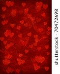 red background with hearts. | Shutterstock . vector #70472698
