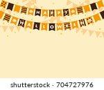 halloween garland vector frame | Shutterstock .eps vector #704727976