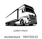 a truck silhouette logo vector | Shutterstock .eps vector #704733115