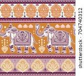 vintage graphic vector indian... | Shutterstock .eps vector #704740312