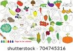 vegetable harvest set to be...   Shutterstock .eps vector #704745316
