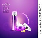 collagen serum and vitamin... | Shutterstock .eps vector #704746018