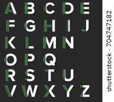strips alphabet letters set.... | Shutterstock .eps vector #704747182