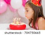 Cute Girl Celebrating Her...