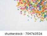 sugar sprinkle dots  decoration ... | Shutterstock . vector #704763526