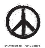 grunge peace sign.vector grunge ... | Shutterstock .eps vector #704765896
