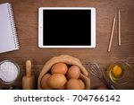 tablet isolated white clipping... | Shutterstock . vector #704766142