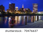 Skyline of Cleveland, Ohio, USA - stock photo