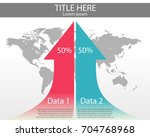 two arrow indicate increase of... | Shutterstock .eps vector #704768968
