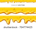 set of two vector seamless... | Shutterstock .eps vector #704774425