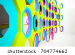 abstract dynamic interior with... | Shutterstock . vector #704774662