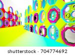 abstract dynamic interior with... | Shutterstock . vector #704774692