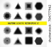 vector set of various halftone... | Shutterstock .eps vector #704777962