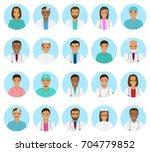 doctors and nurses characters... | Shutterstock .eps vector #704779852
