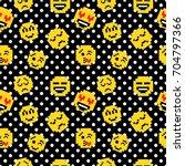 retro pixel art seamless... | Shutterstock .eps vector #704797366