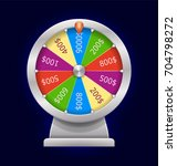 spinning wheel of fortune.... | Shutterstock .eps vector #704798272