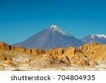 view on volcano licancabur at...   Shutterstock . vector #704804935