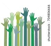 hands raising love with heart | Shutterstock .eps vector #704806666