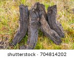 turf fossil fuel drying in a... | Shutterstock . vector #704814202