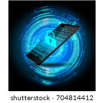mobile phone  safety concept ... | Shutterstock .eps vector #704814412