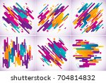 modern stripes abstract... | Shutterstock .eps vector #704814832