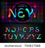 colorful dynamic liquid ink or... | Shutterstock .eps vector #704817088