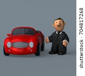 cartoon businessman   3d... | Shutterstock . vector #704817268