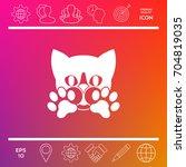 cute cat  paws   logo  symbol ...   Shutterstock .eps vector #704819035