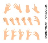 various gestures of human hands ...