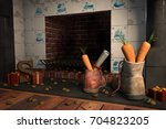 shoes with carrots by the... | Shutterstock . vector #704823205