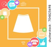 skirt icon  the silhouette.... | Shutterstock .eps vector #704825698