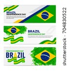 brazil independence day... | Shutterstock .eps vector #704830522