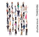 multitude diversity concept | Shutterstock . vector #70483486