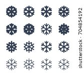 snowflakes signs set. black... | Shutterstock .eps vector #704854192