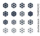 snowflakes signs set. black... | Shutterstock .eps vector #704854192