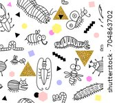 vector. seamless pattern with...   Shutterstock .eps vector #704863702