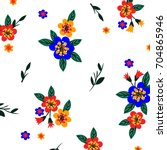 Stock vector flower pattern 704865946