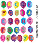 vector alphabet letters on... | Shutterstock .eps vector #70486612