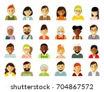 people characters avatars set.... | Shutterstock .eps vector #704867572