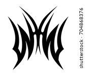 tribal tattoo art designs.... | Shutterstock .eps vector #704868376