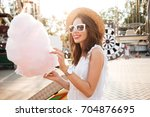 portrait of a smiling pretty... | Shutterstock . vector #704876695