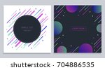 vector trendy design geometric... | Shutterstock .eps vector #704886535