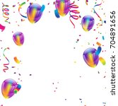 colorful balloons  happy... | Shutterstock .eps vector #704891656