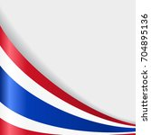 thai flag wavy abstract... | Shutterstock . vector #704895136