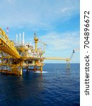 offshore oil   gas central... | Shutterstock . vector #704896672