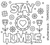 Stay Humble. Coloring Page....