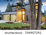 beautiful exterior of... | Shutterstock . vector #704907292