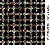 seamless vector pattern.... | Shutterstock .eps vector #704911288
