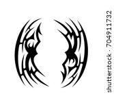tribal tattoo art designs.... | Shutterstock .eps vector #704911732
