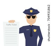 road patrol officer is holding... | Shutterstock .eps vector #704931862